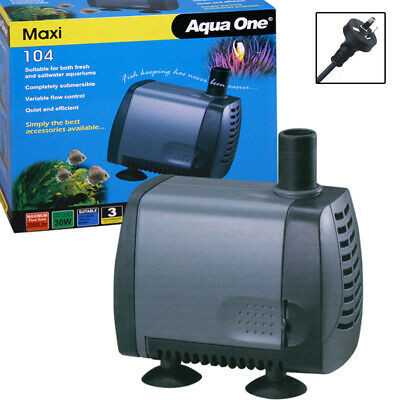 Aqua One Maxi 104 Submersible Aquarium Fish Pond Water Fountain Pump 2000lph