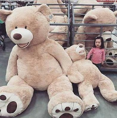 "HUGE SUPER TEDDY BEAR(ONLY COVER) PLUSH TOY SHELL (WITH ZIPPER) 102""/260cm"
