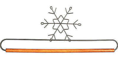 SNOWFLAKE QUILT HANGER HOLDER, With Dowel Rod From Ackfeld Manufacturing NEW
