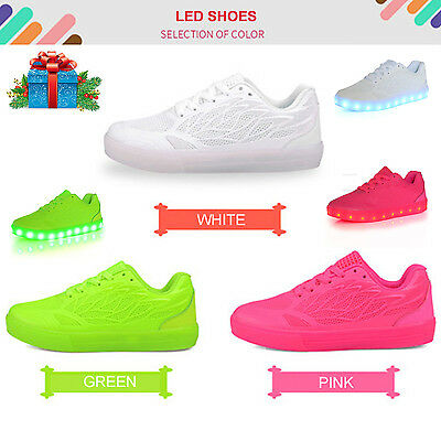 Night Light-Up LED Shoes Flashing Sneakers Trainers  Mesh Breathable Girls Women