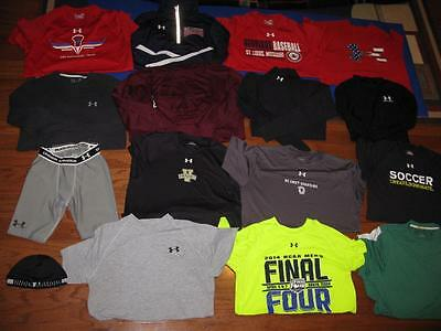 Lot 16 Adult Mens Under Armour Shirts Pullover Compression Shorts Tees All Small