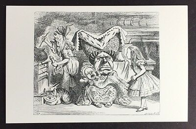 Alice In Wonderland POSTCARD Lewis Carroll JOHN TENNIEL Duchess BABY Cat AW52