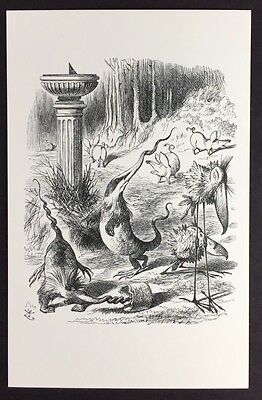 Alice In Wonderland POSTCARD Lewis Carroll JOHN TENNIEL Jabberwocky ANIMALS AW53