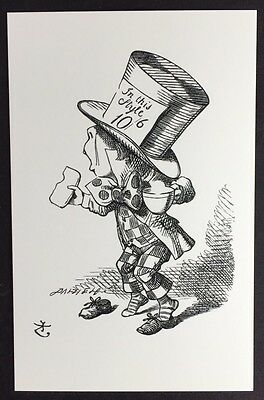Alice In Wonderland POSTCARD Lewis Carroll JOHN TENNIEL Shoes MAD HATTER AW55