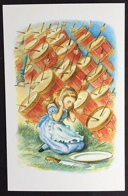 Alice In Wonderland POSTCARD Lewis Carroll JOHN TENNIEL Drummers DRUMS AW57