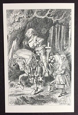Alice In Wonderland POSTCARD Lewis Carroll TENNIEL White Knight OLD Horse AW59