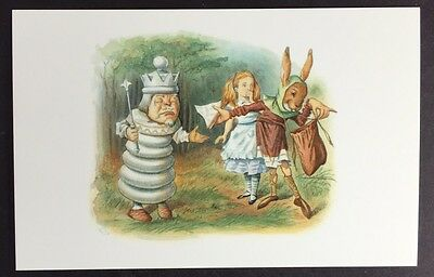 Alice In Wonderland POSTCARD Lewis Carroll TENNIEL March Hare KING Sandwich AW66