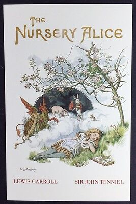 Alice In Wonderland POSTCARD Lewis NURSERY ALICE Book Cover AW67