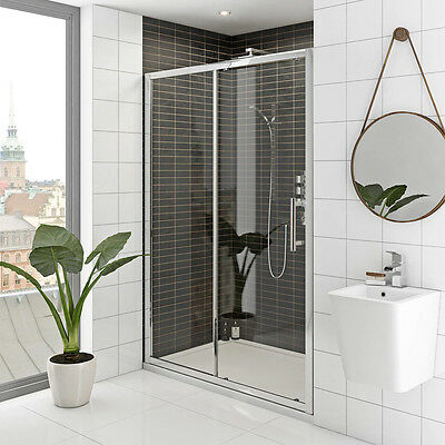 Sliding Shower Screen  Enclosure Door Framed Wall to Wall 1200X1900mm