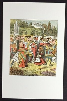 Alice In Wonderland POSTCARD Lewis Carroll TENNIEL Queen OFF WITH HER HEAD AW73