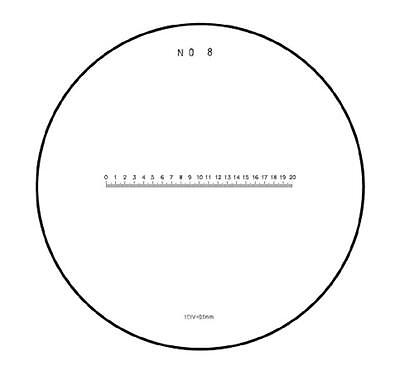 #792 Skala / Scale 20/200 mm. No. 8 Ø 35 mm.  for measuring magnifier / Messlupe