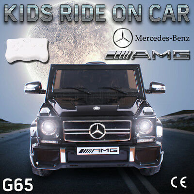 New Licensed Mercedes-benz G65 AMG Kids Electric Ride On Car Children Toys 12V