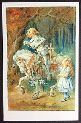Alice In Wonderland POSTCARD Lewis Carroll TENNIEL Horse WHITE KNIGHT Old AW94