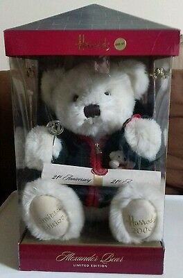Harrods Alexander Bear - 21St Anniversary, Limited Ed. 203/1000. Boxed. Rare.