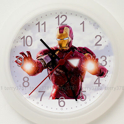 IRON MAN Wall Clock NEW - 24cm Ironman Comic Book Hero Christmas Gift