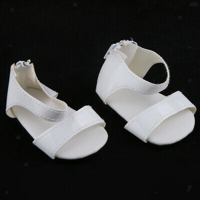 "White Zip Back Shoes Clothes Accessories for 18"" American Girl AG Gotz Dolls"