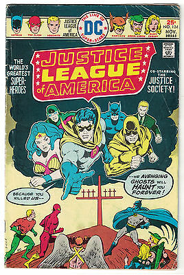 DC Comics JUSTICE LEAGUE OF AMERICA The World's Greatest Superheroes No 124 VG-