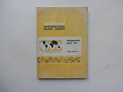 LOCKHEED Catalogue - Component Parts List for hydraulic cylinders 1963-72