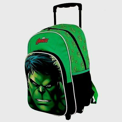 The Hulk Trolley Wheelie Suitcase Luggage Travel School Bag for Kids Marvel Aven