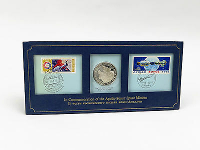 Numisbrief Apollo-Soyuz Space Mission 1975 - Silber Medaille