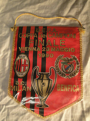 NOS Football Vintage 1990 AC MILAN-BENFICA UEFA Champions League Final Pennant