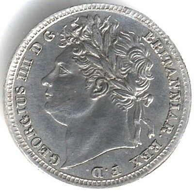 1830 George IV Silver Maundy One Penny 1 Over 1***Collectors***High Grade***