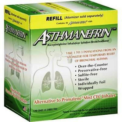 Asthmanefrin Refill 30 Vials Relieves From Asthma Short Breath, wheezing 2 boxes