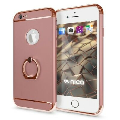 nica Schutzhülle mit Ring Case APPLE IPHONE 6 - Rose Gold