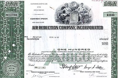 Air Reduction Company Inc Aktie Stock Certificate 100 Shares Jun 12 1969