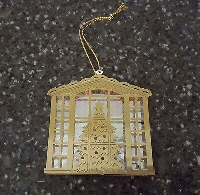 Avon Gift Collection Christmas Reflections Ornament Tree Scene NOS