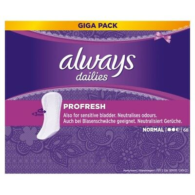 340 Stück always Slipeinlagen ProFresh Normal Gigapack 68er Pack x 5 Sparpack