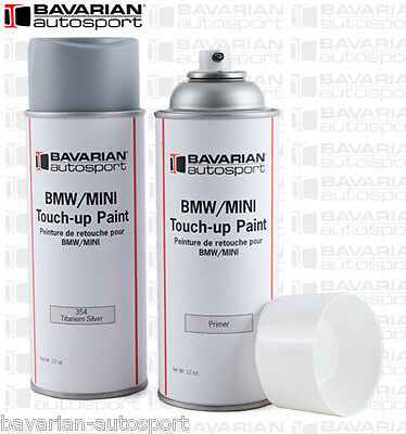 BMW Touch Up Paint - 12 oz Spray Can - Titanium Silver   - Color Code 354