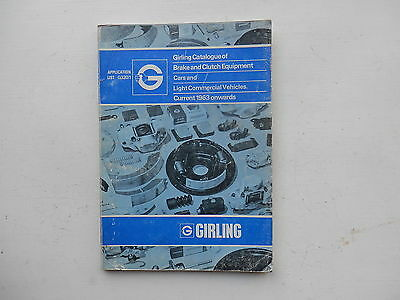 GIRLING Brake and Clutch Parts Catalogue issued around 1974  lists from 1964