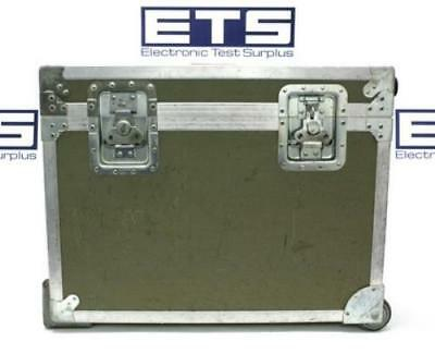 Electronic Test Equipment Flight Road Case w/ Handle & Wheels 25x20x10.5
