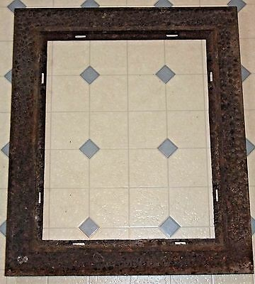 Antique Metal Heating Register Vent Grate FRAME, Rectangle, 12x15, 18x21 overall