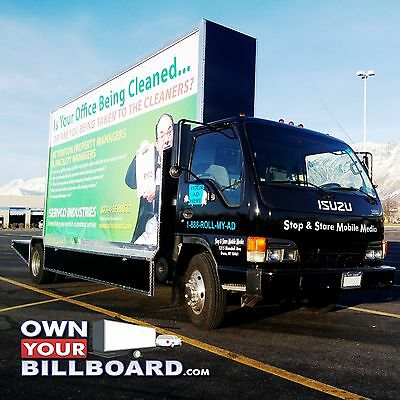 Mobile Advertising Truck, 20'x10' Billboard Truck Isuzu NPR Diesel Engine