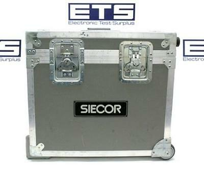 Siecor Electronic Test Equipment Flight Road Case w/ Handle & Wheels 22x20x10.5