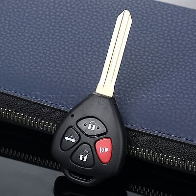 Remote Uncut Blank Key Fob Keyless Entry Shell Case For Toyota 4 Buttons