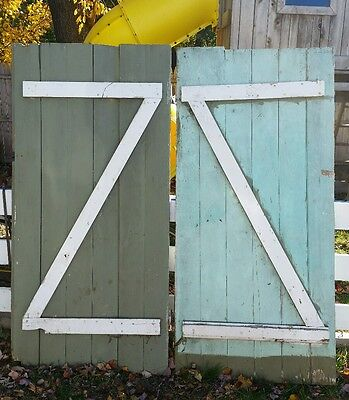 Farmhouse BARN DOOR Pair AUTHENTIC Vintage OLD reclaimed Salvaged Barn Wood 1950