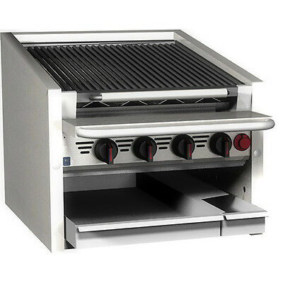 "Magikitch'n CM-RMB-636 36"" Countertop Stainless Steel Radiant Gas Charbroiler"