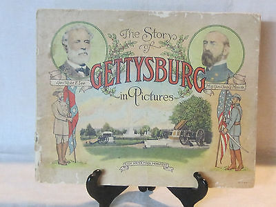 Early battlefield souvenir booklet, The Story of Gettysburg in Pictures