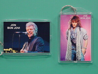 JON BON JOVI - with 2 Photos - Designer Collectible GIFT Keychain 03