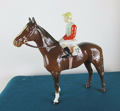 Rare Beswick Horse And Jockey 1862 - Perfect!