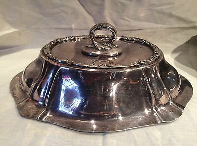 Gorham Silver Plate Meat Dome W Removable Handle & Matching Serving Bowl Gm Co.