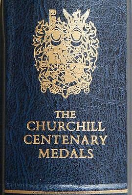 THE CHURCHILL CENTENARY MEDALS COLLECTION - 24 x 22 ct GOLD & ST SIL MEDALLIONS