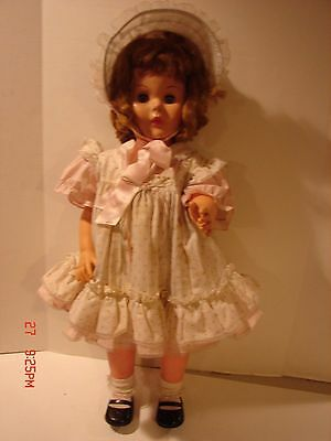 Vintage Large Vinyl Hard Plastic Doll 30 Inches Tall Eyes Open Close