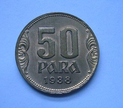 Yugoslavia 50 Para 1938, Mint Error, Die Break