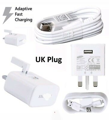 Wall Mains Adaptive Charger Plug for Samsung Galaxy S6 Edge Plus Note 4 5, HTC