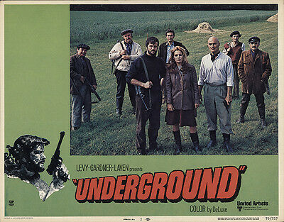 Underground 1970 Original Movie Poster Drama Thriller War