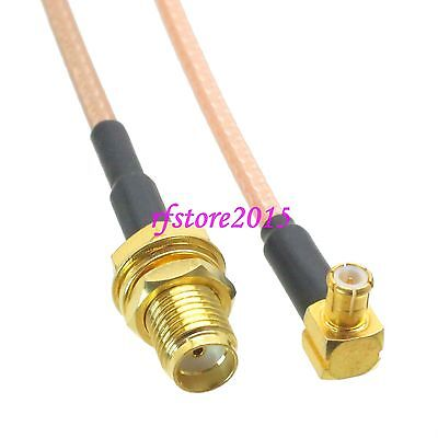 Cable RG316 6inch SMA female bulkhead to MCX male plug 90° RF Pigtail Jumper
